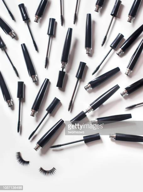 conceptual beauty product still life. - mascara stock pictures, royalty-free photos & images