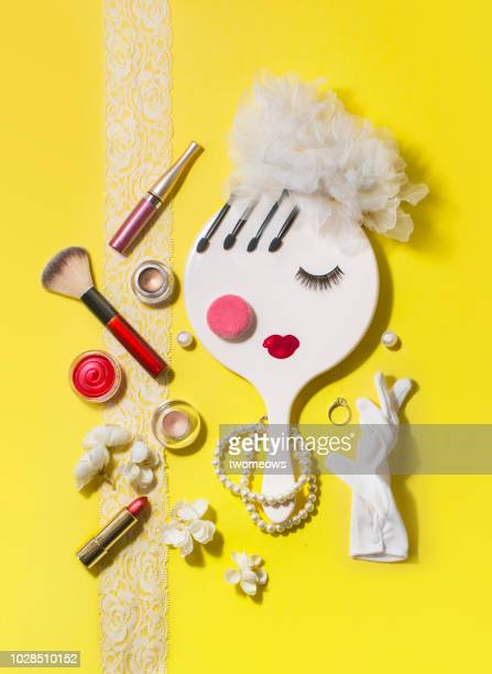 conceptual bride's beauty product still life. - jewellery products stock photos and pictures
