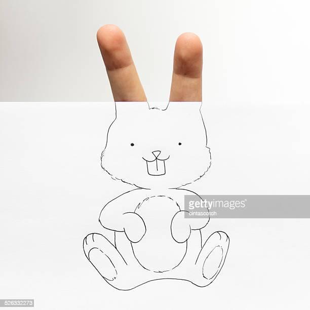 Conceptual bunny rabbit