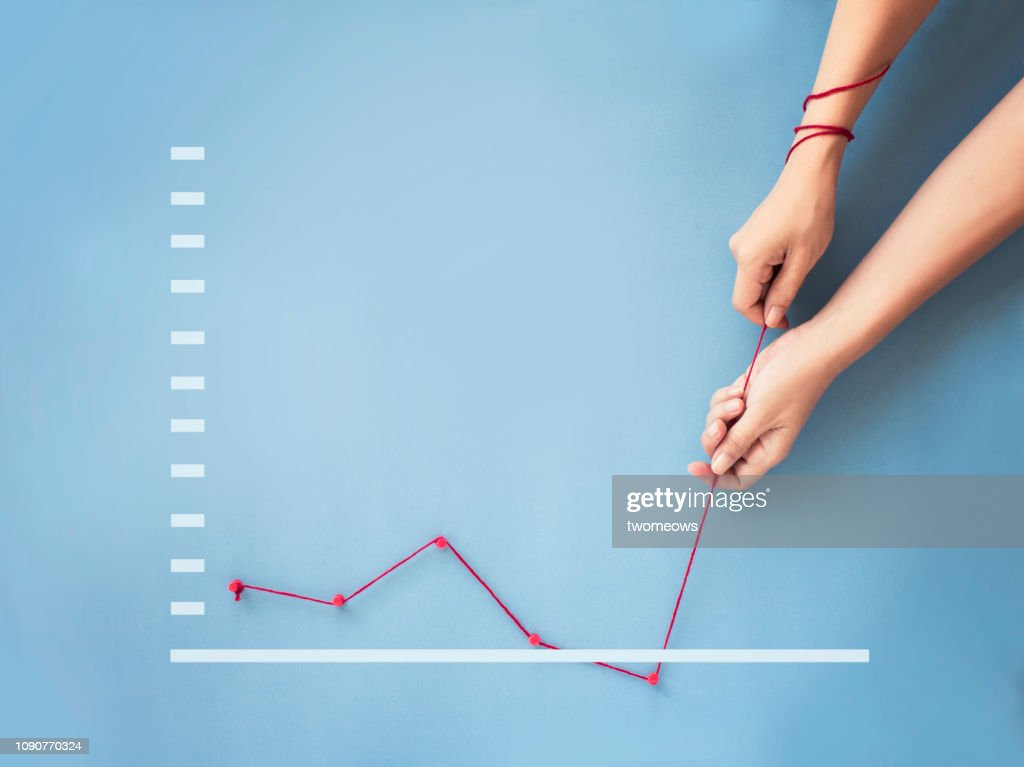 Conceptual business finance growth chart still life. : Foto de stock