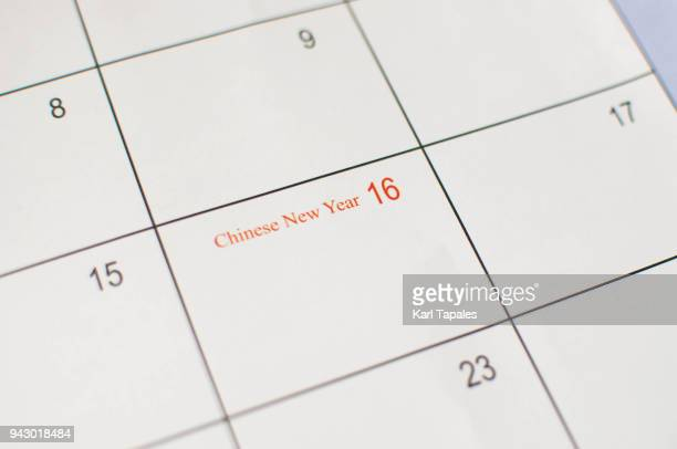 Conceptual chinese new year calendar