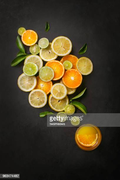 Conceptual citrus fruits juice image.