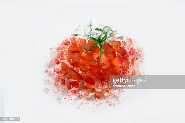 Conceptual deconstructed tomato