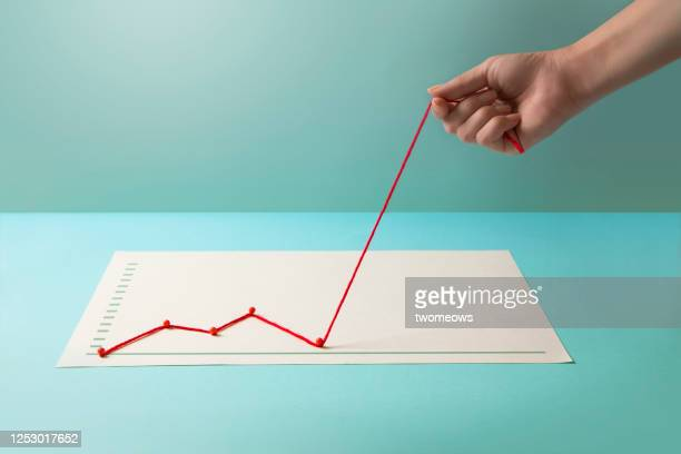 conceptual finance or business growth chart. - recovery stock pictures, royalty-free photos & images