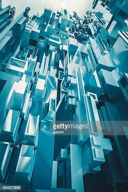 Conceptual futuristic skyscraper