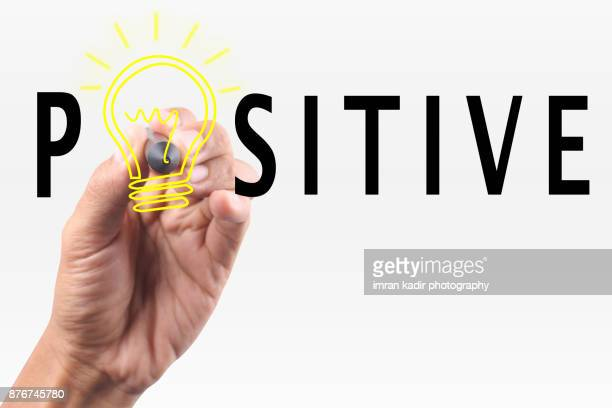 conceptual image for be positive
