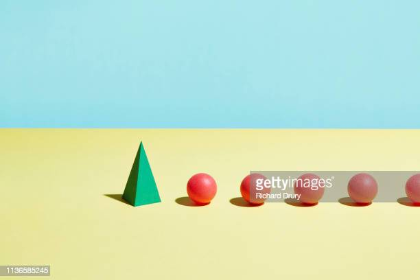 conceptual image of geometric blocks - following stock pictures, royalty-free photos & images