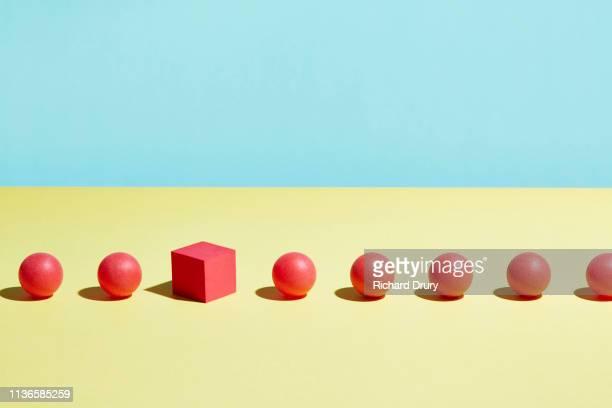 conceptual image of geometric blocks - sayings stock pictures, royalty-free photos & images