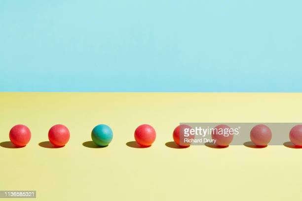 conceptual image of geometric blocks - individuality stock pictures, royalty-free photos & images