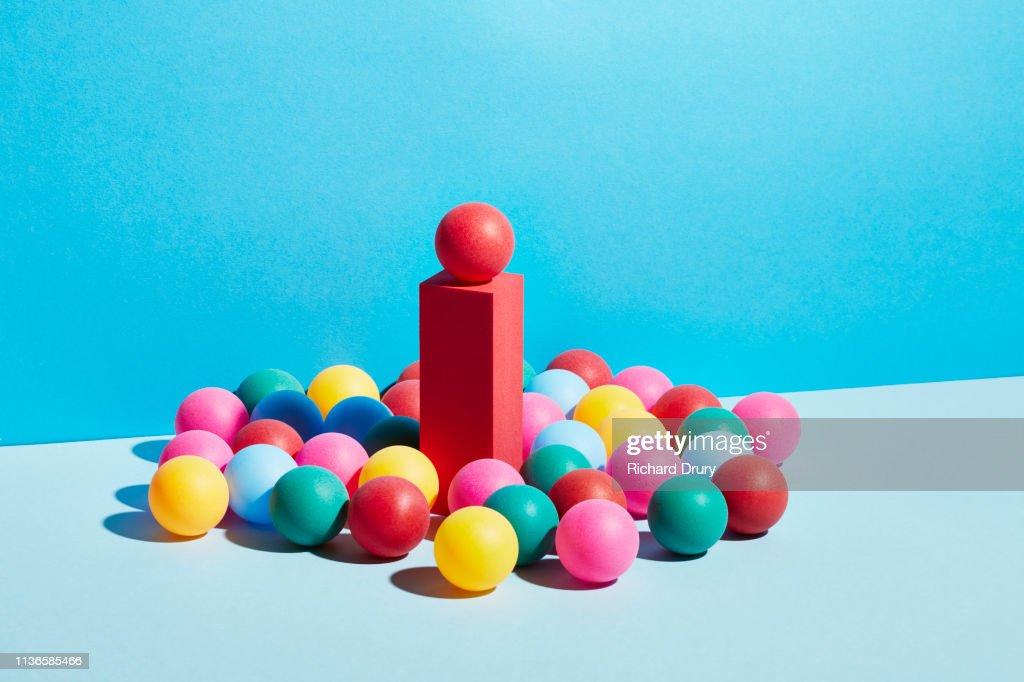 Conceptual image of geometric blocks : Stock-Foto