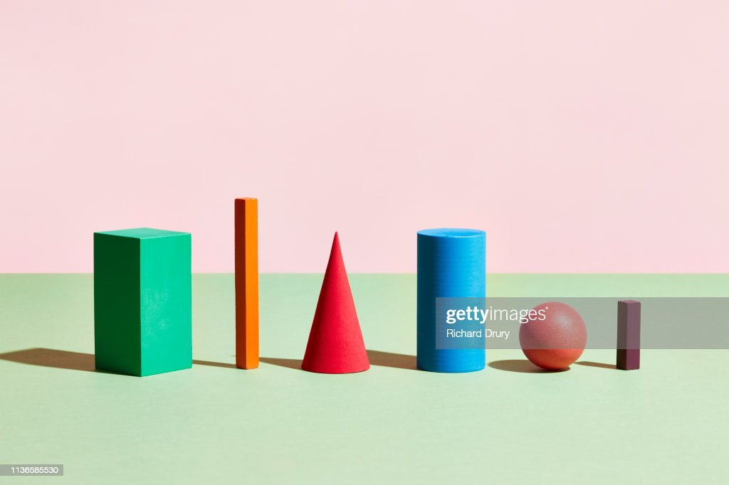 Conceptual image of geometric blocks : Foto de stock