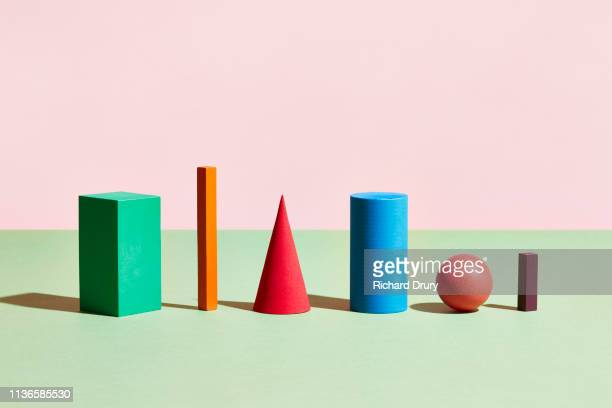 conceptual image of geometric blocks - diversity stock pictures, royalty-free photos & images
