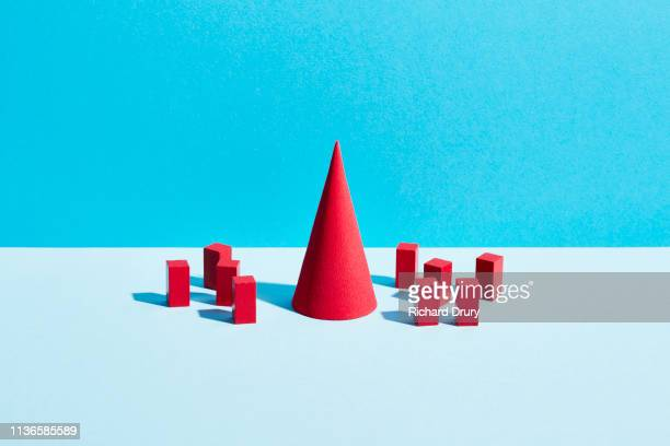 conceptual image of geometric blocks - foot bone stock pictures, royalty-free photos & images