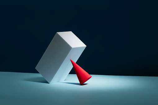 Conceptual image of geometric blocks - gettyimageskorea