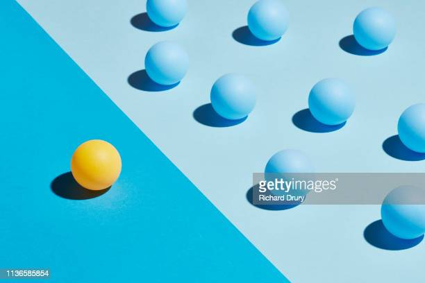 conceptual image of spheres - group of objects stock photos and pictures