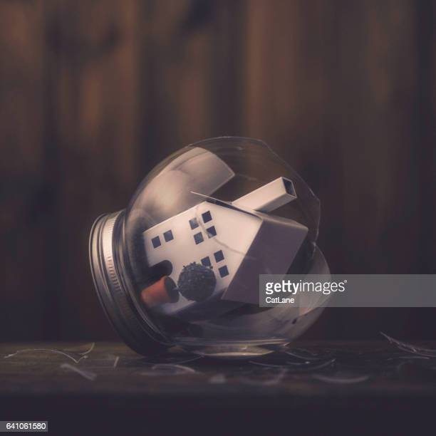 conceptual imagery portraying a broken home - soft focus stock pictures, royalty-free photos & images
