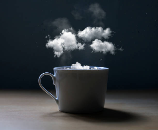Conceptual photo of a cup with clouds