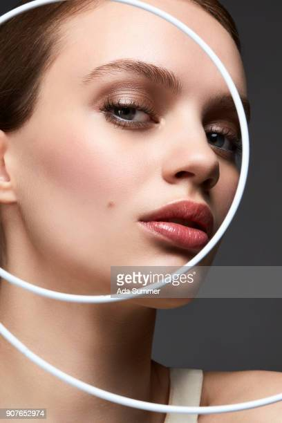 conceptual picture for different skintype, foundations - beauty shot