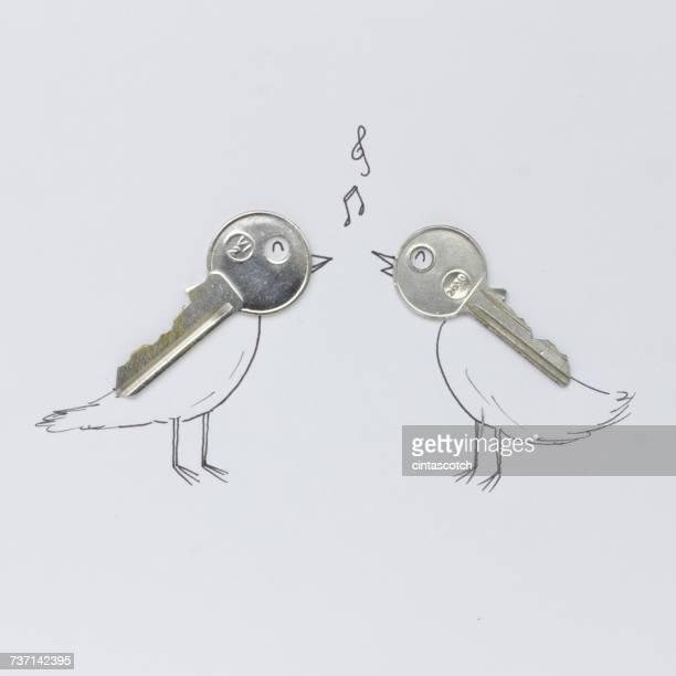 Conceptual singing birds