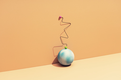 Conceptual still life with an earth globe - gettyimageskorea