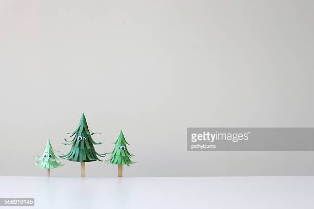 Conceptual trees with googly eyes