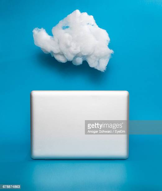 Conceptual White Cloud And Blank Rectangle