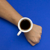 conceptual wrist watch an arm