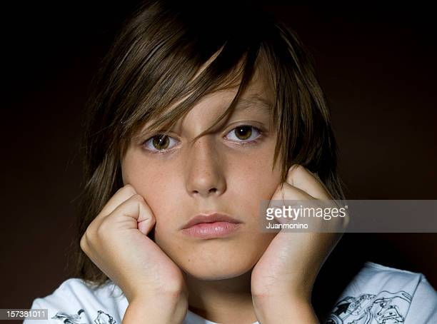 concerned boy - eastern european descent stock pictures, royalty-free photos & images