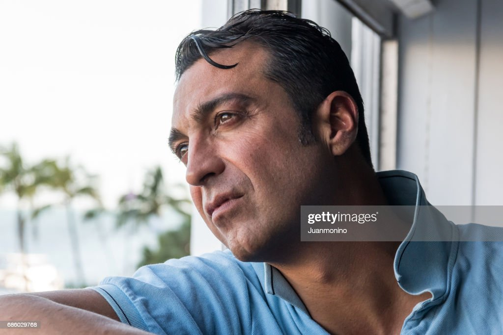 concerned mature man : Stock Photo