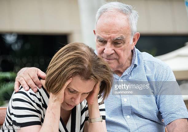 Preocupado Senior par