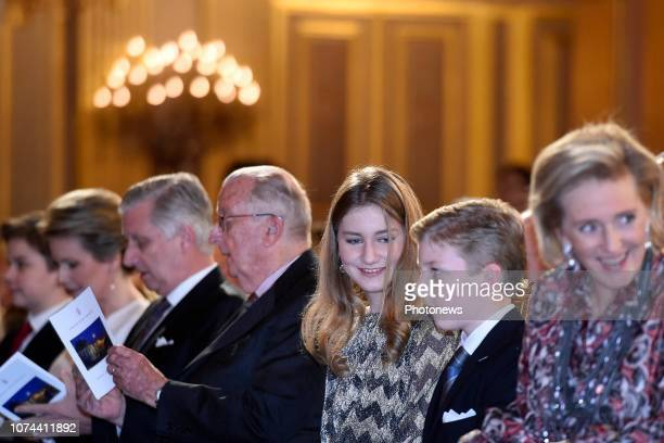 Concert annuel de Noël en présence du Roi Philippe et de la Reine Mathilde Jaarlijks kerstconcert iav de Koning Filip en de Koningin Mathilde pict by...