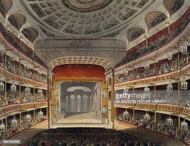 Concert at New Covent Garden Theatre in London building commissioned by John Rich and opened in 1732 United Kingdom 18th century