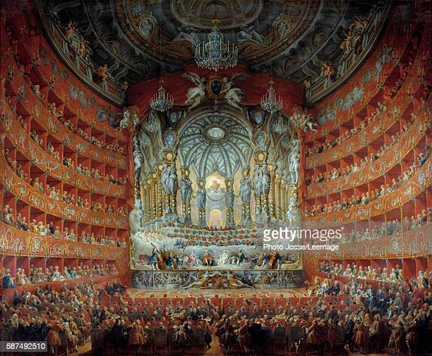 Concert at the Argentina theatre in Rome given in celebration of the marriage of Louis the Dauphin of France son of Louis XV to Marie Josephe of...