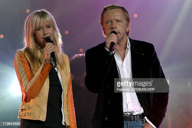 Concert at the Olympia on the 50th anniversary of RTL 9 Chanel In Paris France On February 07 2005Romane Serda and Renaud