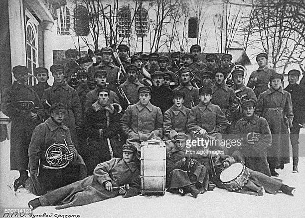 Concert band of the Solovki prison camp. Found in the collection of State Museum of the Political History of Russia, St. Petersburg.