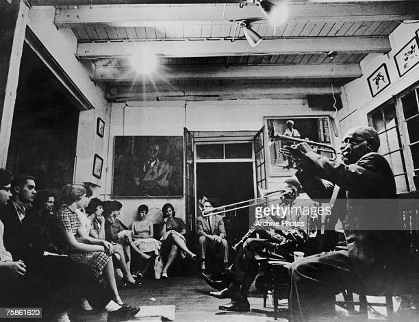 A concert by the Preservation Hall Jazz Band at Preservation Hall New Orleans circa 1965