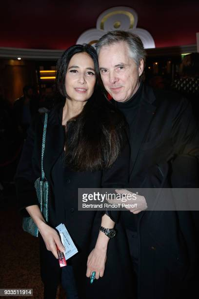 Concert Costume Olivier Lapidus and his wife Yara attend Sylvie Vartan performs at Le Grand Rex on March 16 2018 in Paris France