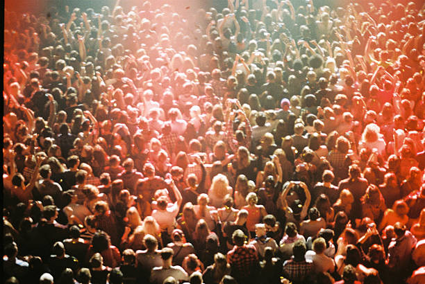 Concert crowd from above