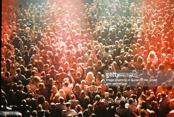concert crowd from above - crowd stock pictures, royalty-free photos & images