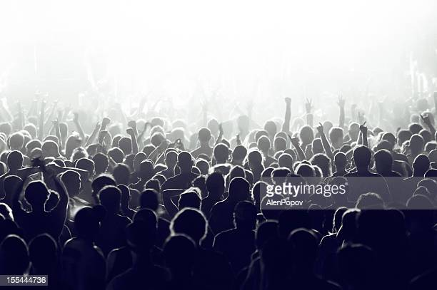 concert crowd - crowd stock pictures, royalty-free photos & images