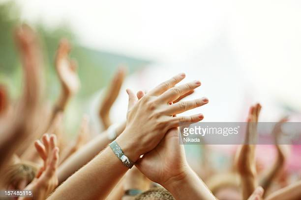 concert crowd - bracelet stock pictures, royalty-free photos & images