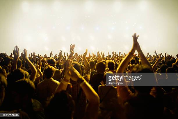 concert crowd - pop music stock pictures, royalty-free photos & images