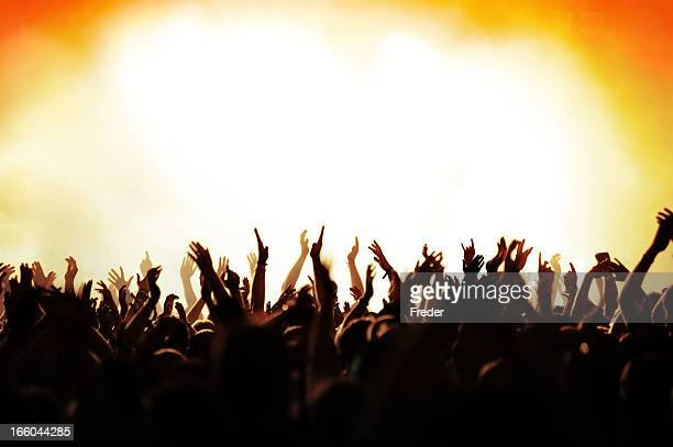 concert crowd - metal music stock photos and pictures