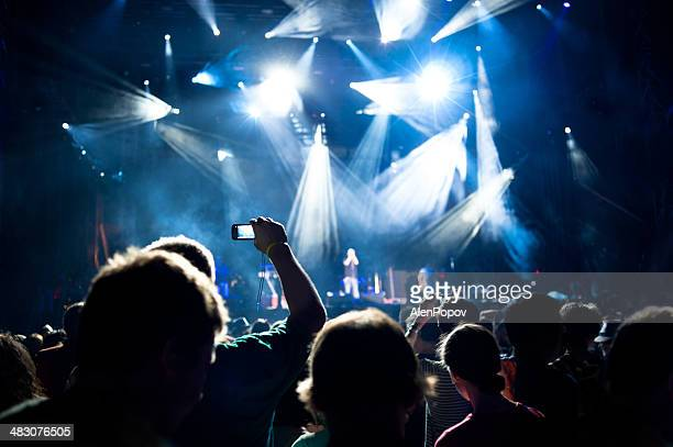 concert crowd - stage performance space stock pictures, royalty-free photos & images