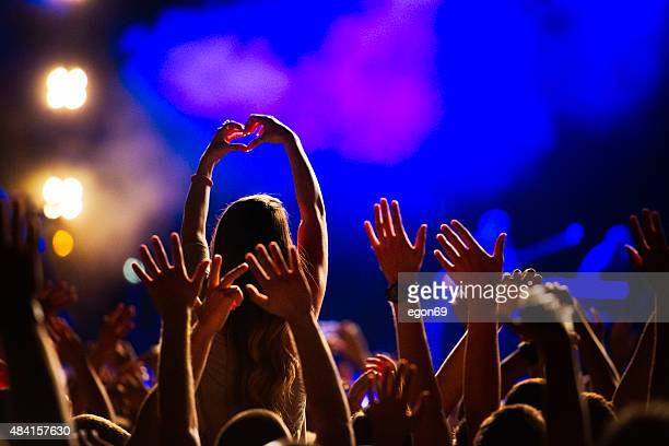 concert crowd - concert stock pictures, royalty-free photos & images