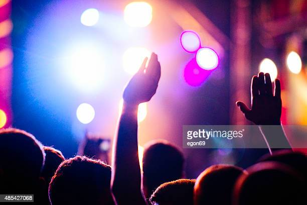 concert crowd - pop musician stock photos and pictures