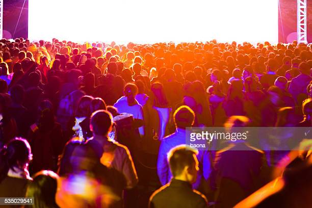 concert crowd - congregation stock pictures, royalty-free photos & images