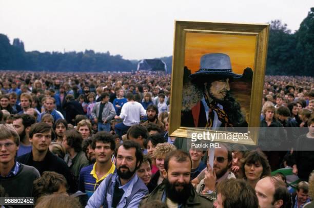 Concert de Bob Dylan le 17 septembre 1987 à Berlin Est, République fédérale Allemande.
