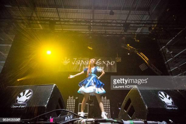 Concert de Shoko Nakagawa à Japan Expo le 2 juillet 2014, au parc des expositions de Villepinte, près de Paris, France.