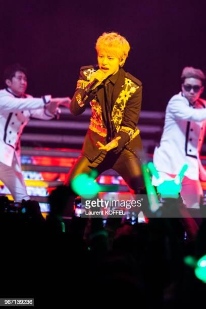 Concert du groupe Coréen BAP composé de Yong Guk Himchan Daehyun Young Jae Jong Up et Zelo au Zénith le 30 avril 2014 Paris France